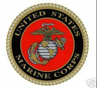 USMC MARINE CORPS LOGO WINDOW CAR ROUND MILITARY DECAL
