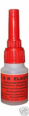 Sekundenkleber Bärenkleber ELASTISCH 180 ° Biegbar Atomkleber Cyanacrylat 20 Gr.
