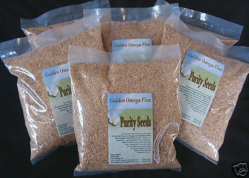(6)  2 lb. bags Purity Seeds golden omega  flax seed, linseed - FREE SHIPPING