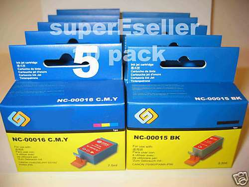 5 Canon BCI-16 color ink cartridges iP90 iP90V Selphy DS700 DS810