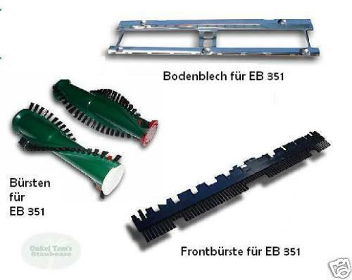 Brushes + Bottom Plate + Front Brush to fit Vorwerk Electric Brush EB 350,351