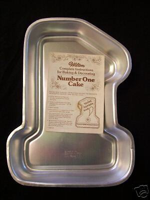 1979 Wilton Number 1 One 1st First Birthday Cake Pan